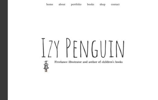 The Izy Penguin home page header