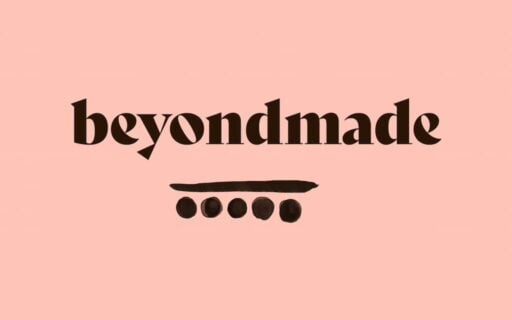 Logo wordmark for Beyond Made, with one if their custom-designed icons below